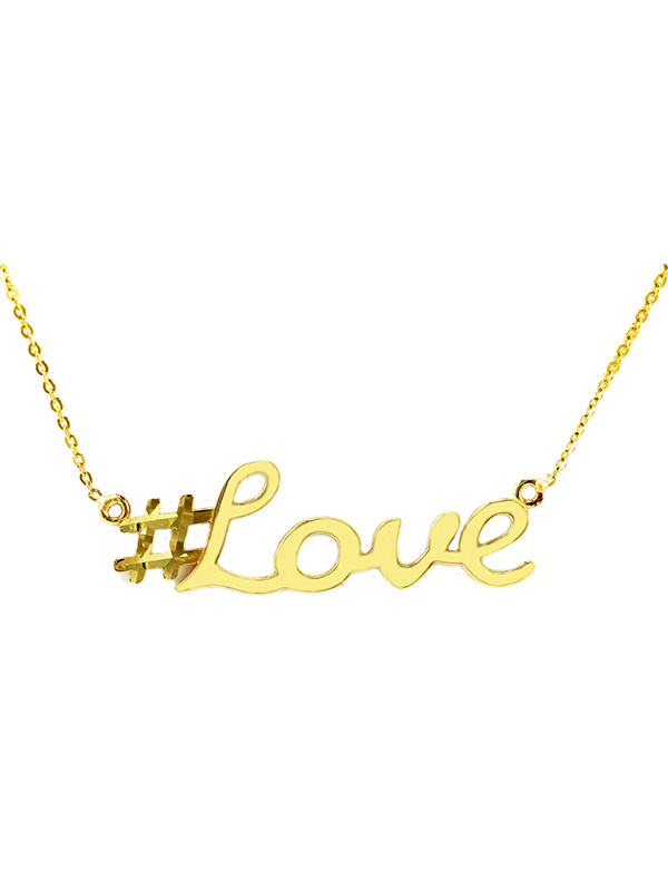 Hashtag pendant love new gold jewelry charms engagement rings love 600x800 aloadofball Choice Image